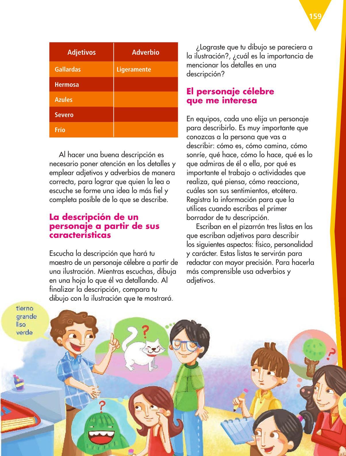 Español Libro para el alumnoquintoPagina 159