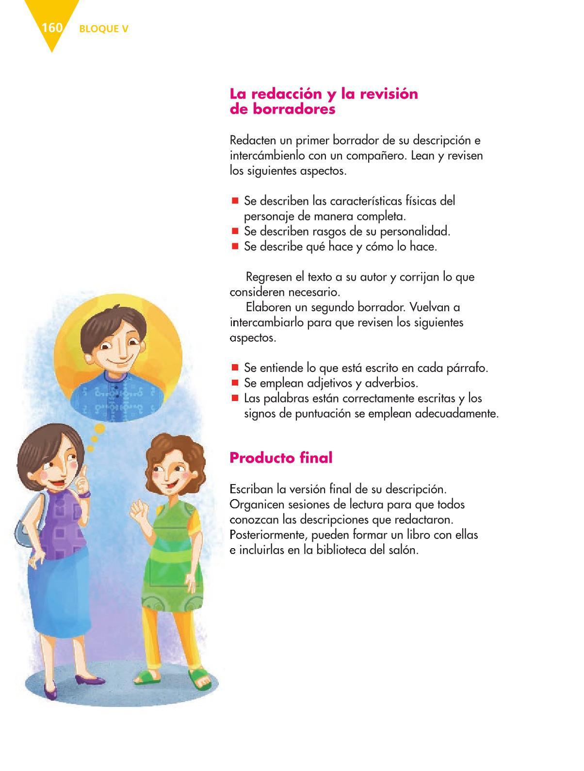 Español Libro para el alumnoquintoPagina 160