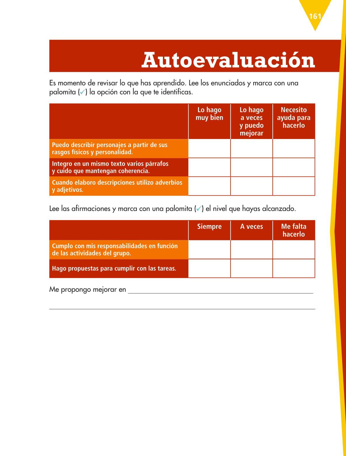 Español Libro para el alumnoquintoPagina 161