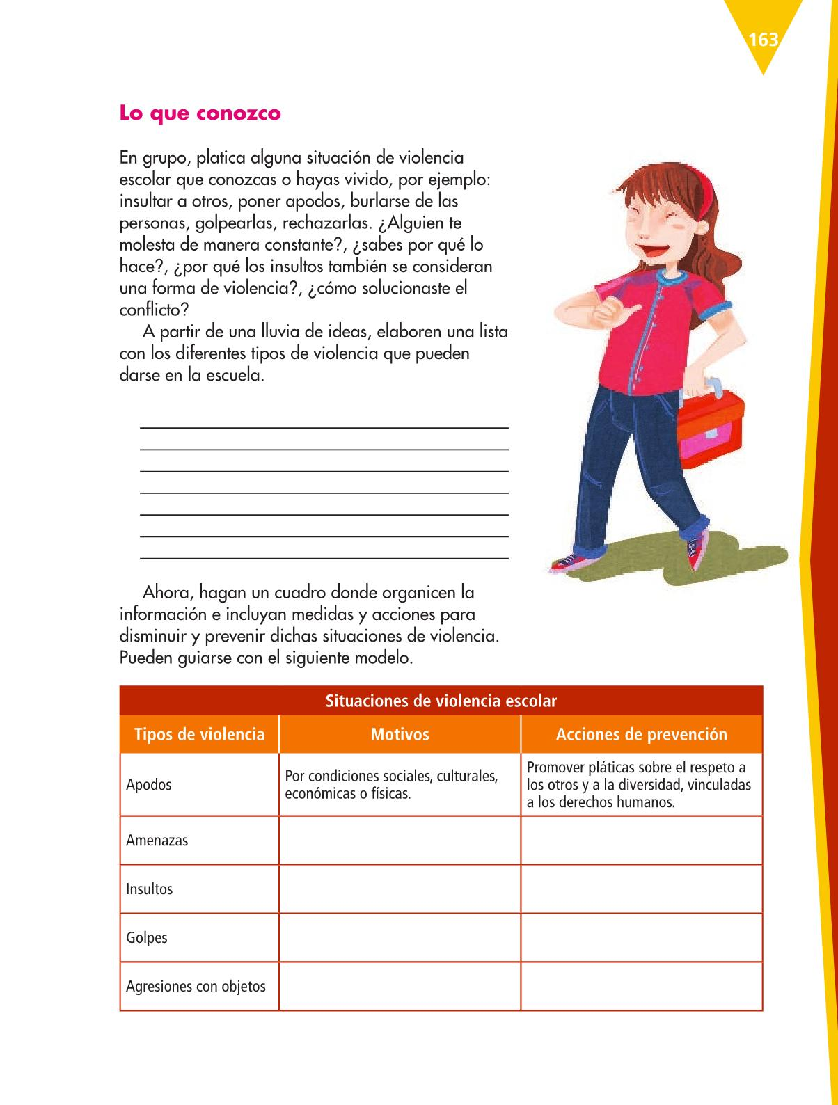 Español Libro para el alumnoquintoPagina 163