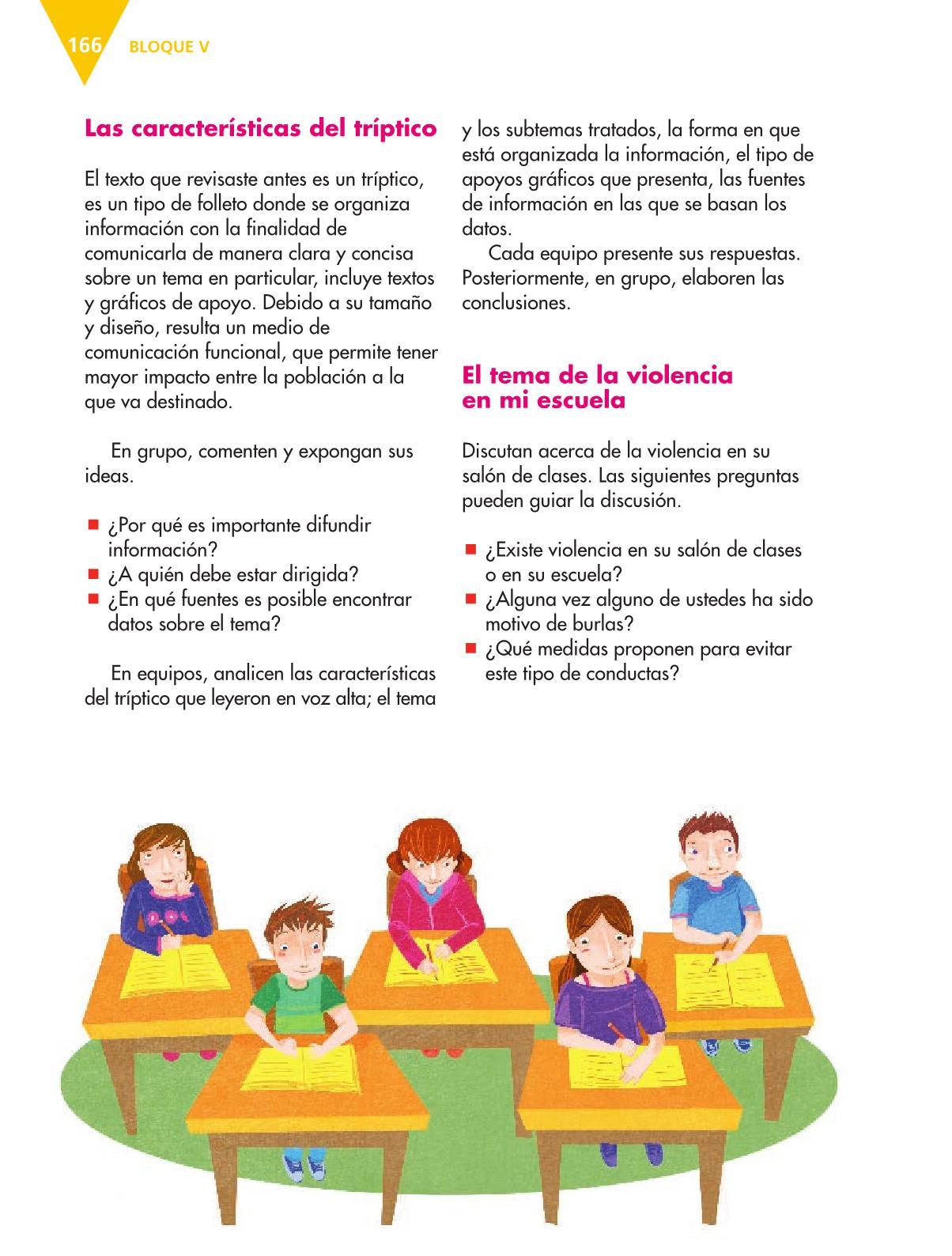Español Libro para el alumnoquintoPagina 166