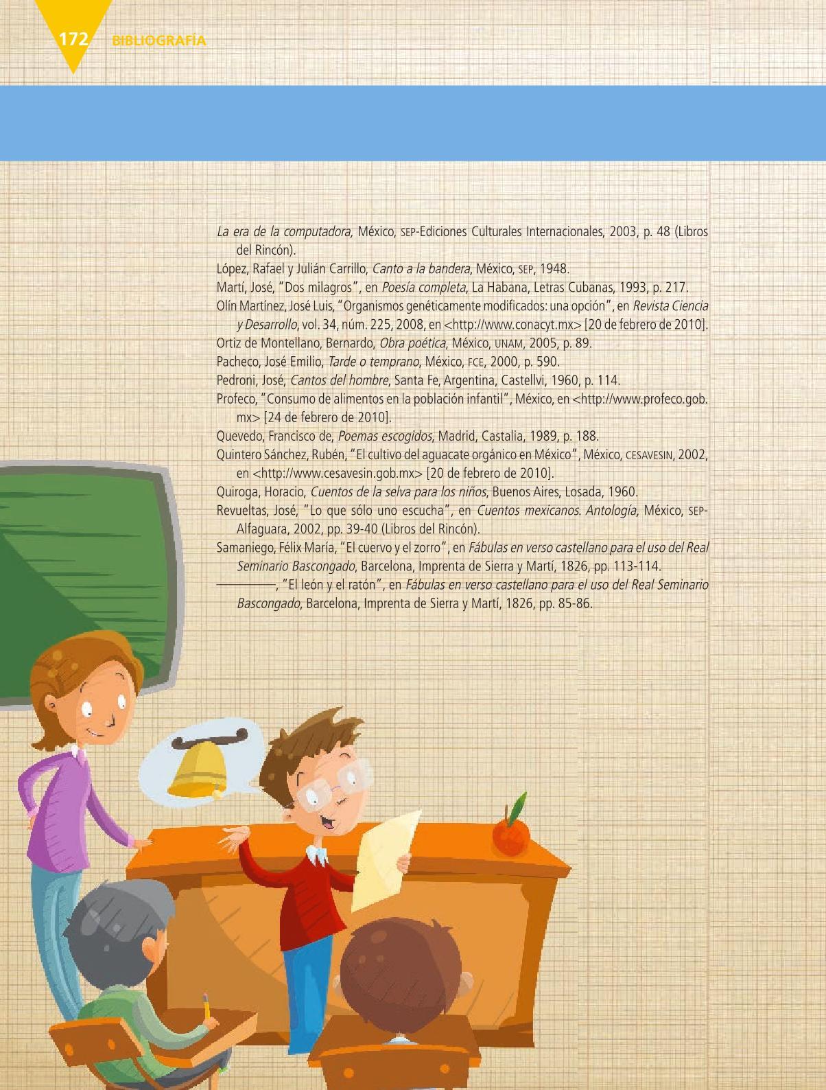 Español Libro para el alumnoquintoPagina 172