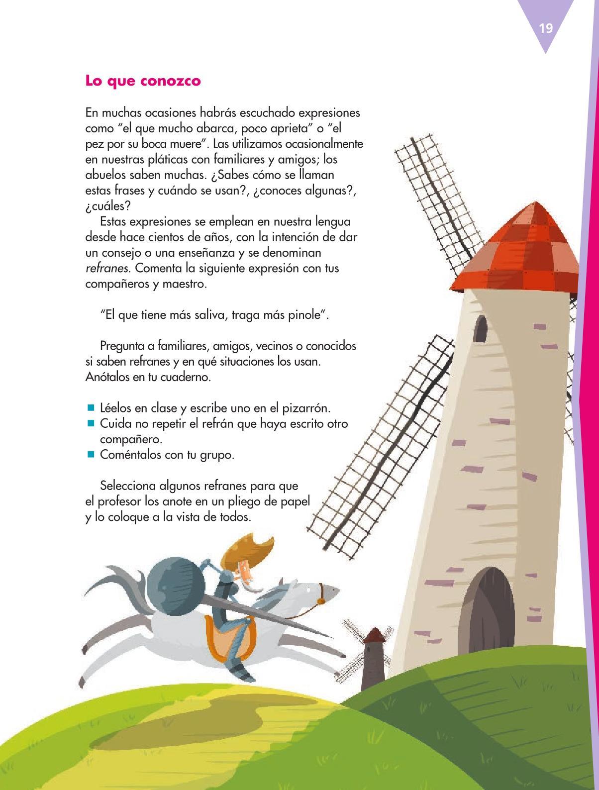 Español Libro para el alumnoquintoPagina 19