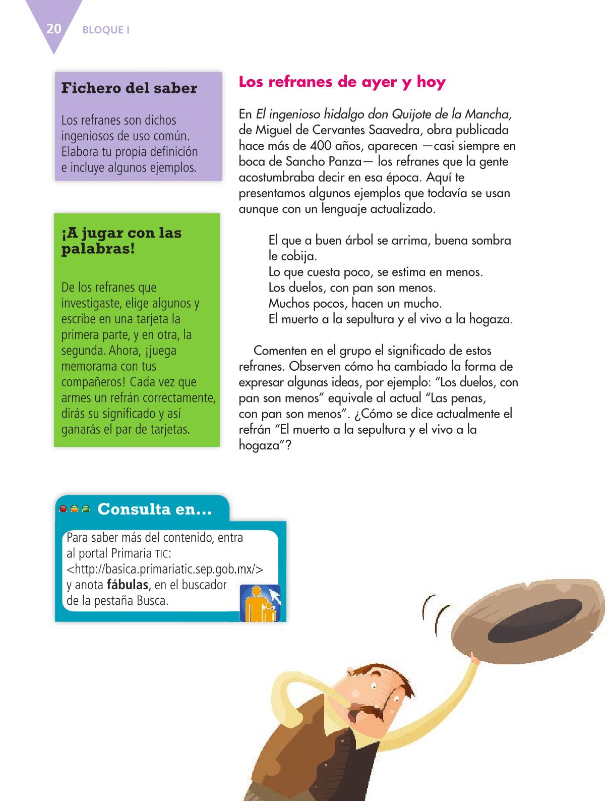 Español Libro para el alumnoquintoPagina 20