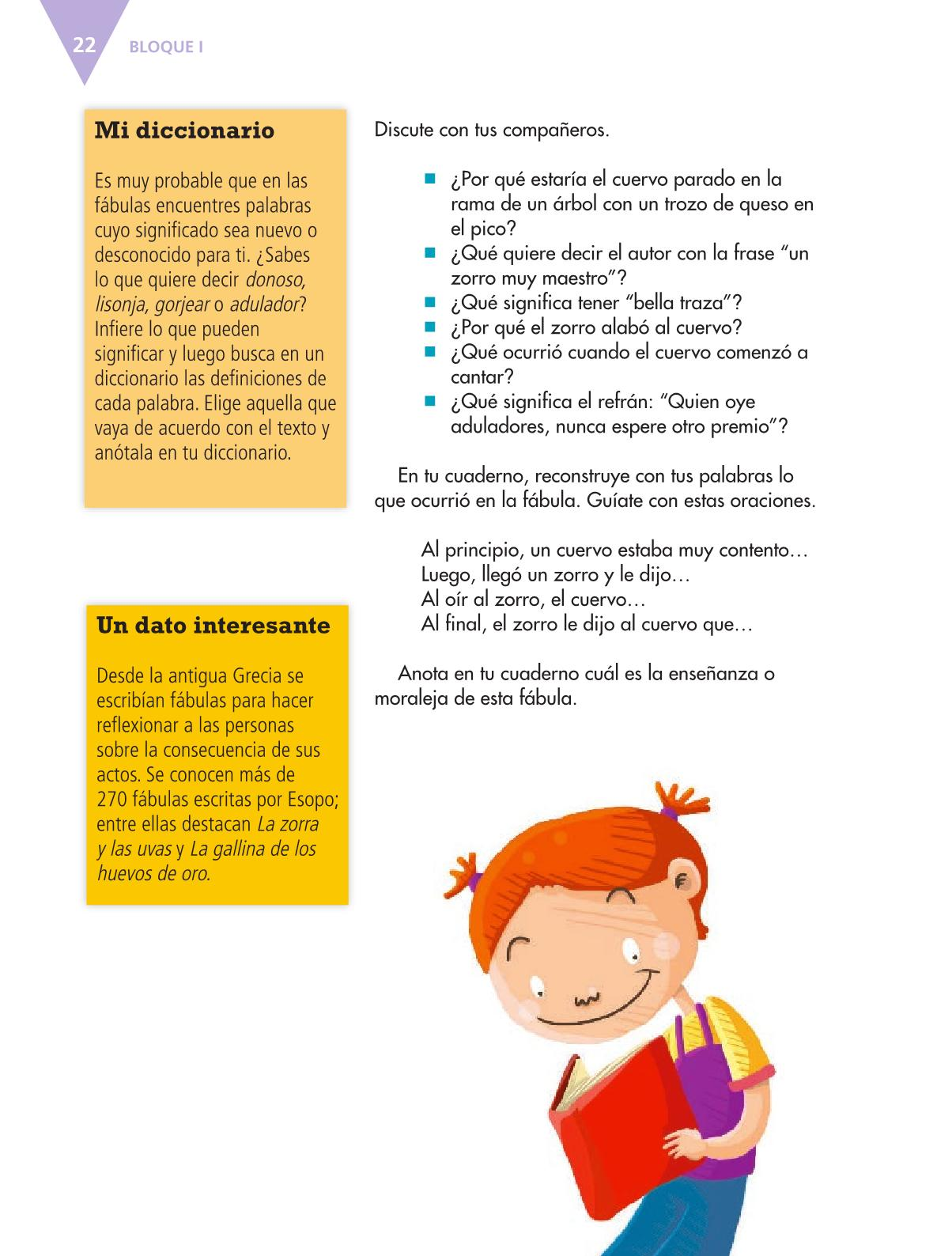 Español Libro para el alumnoquintoPagina 22