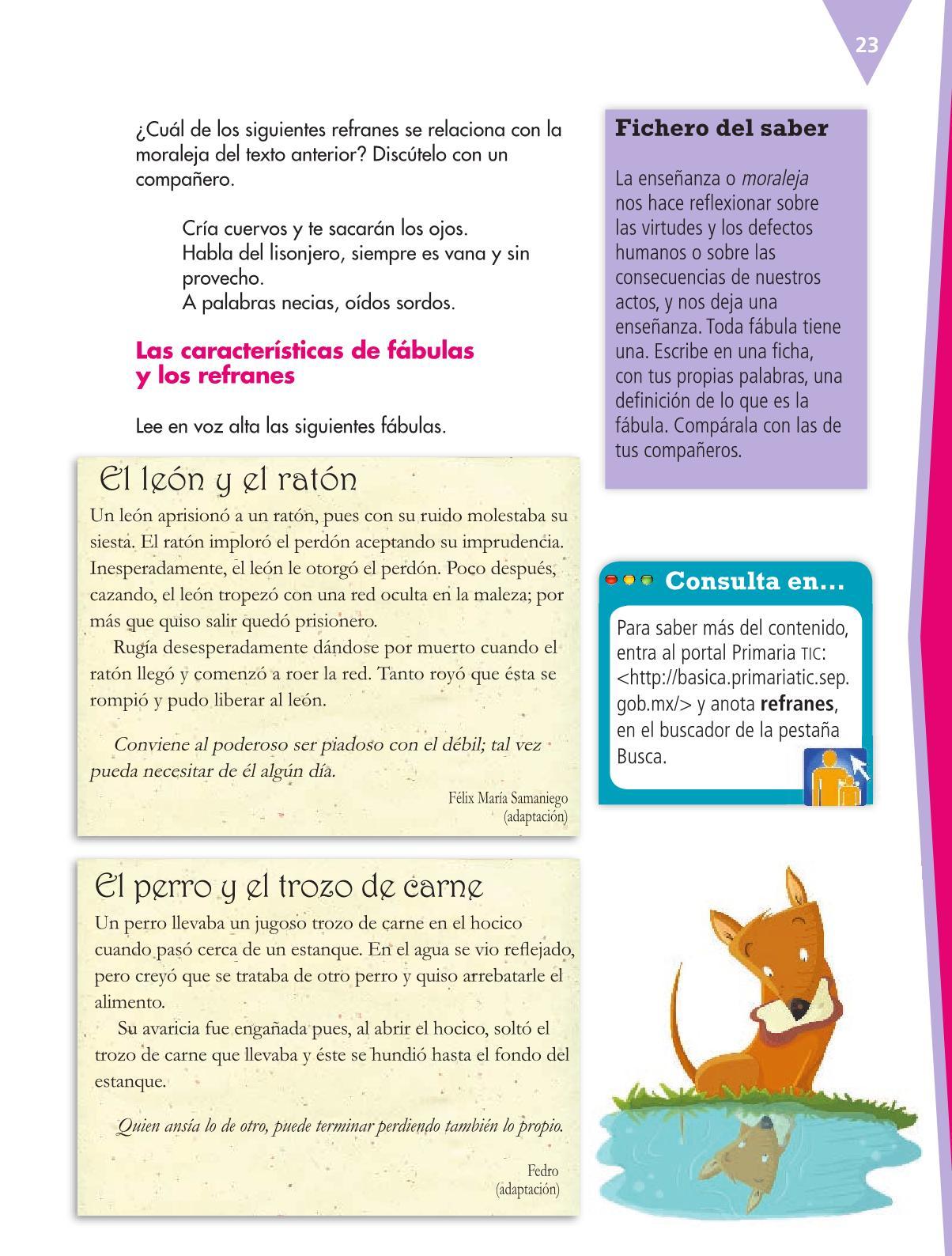 Español Libro para el alumnoquintoPagina 23