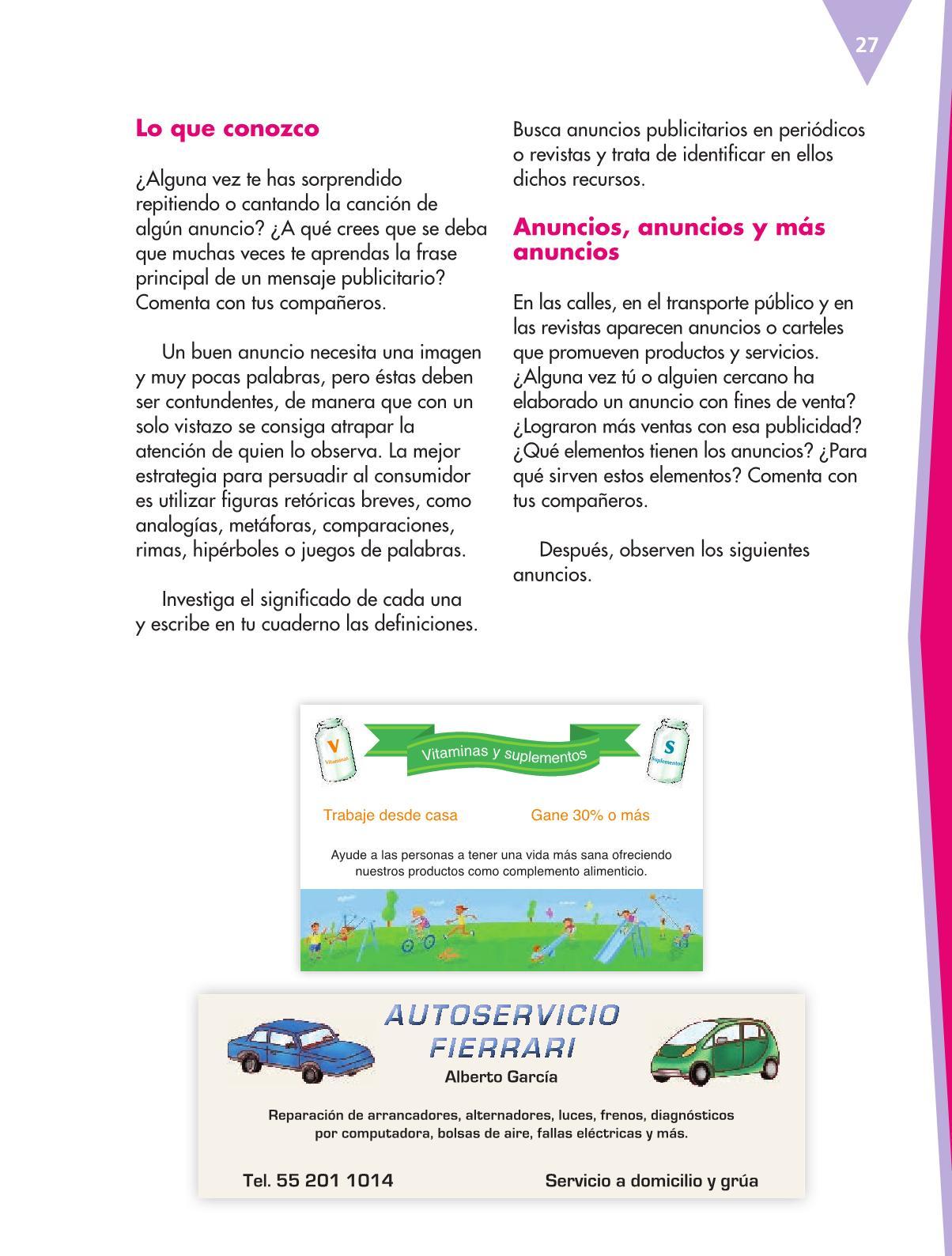 Español Libro para el alumnoquintoPagina 27