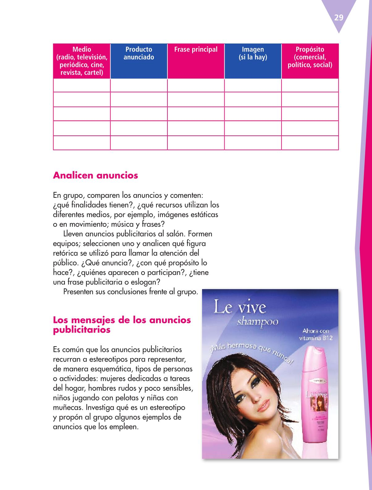 Español Libro para el alumnoquintoPagina 29