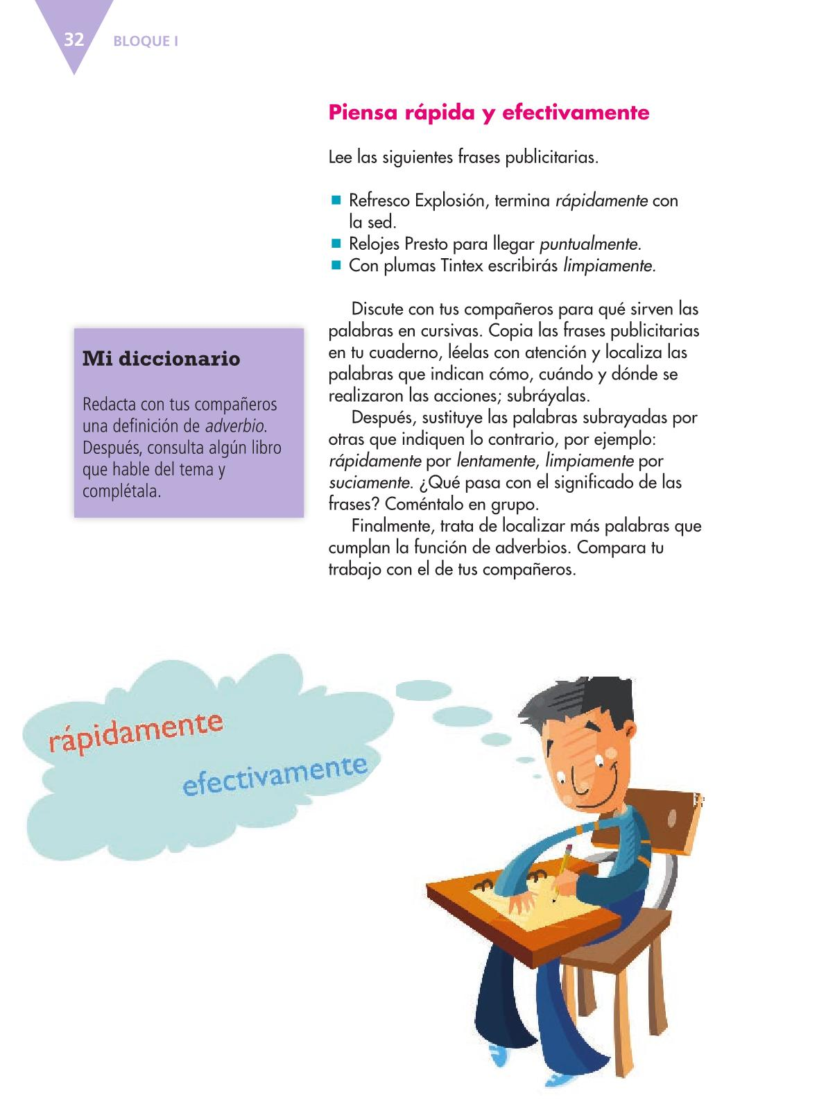 Español Libro para el alumnoquintoPagina 32