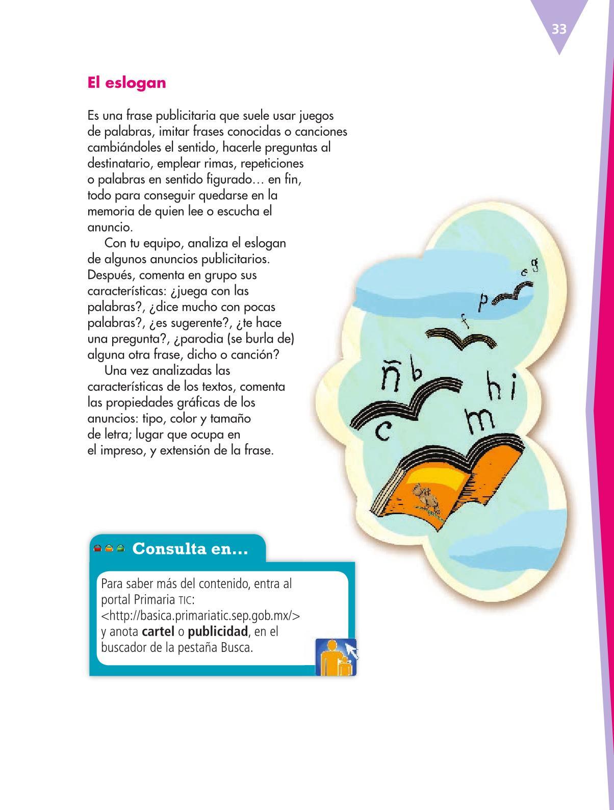 Español Libro para el alumnoquintoPagina 33