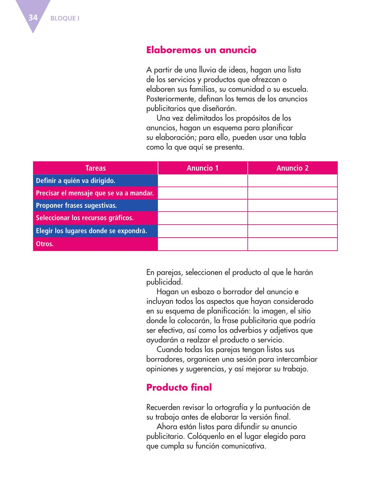 Español Libro para el alumnoquintoPagina 34