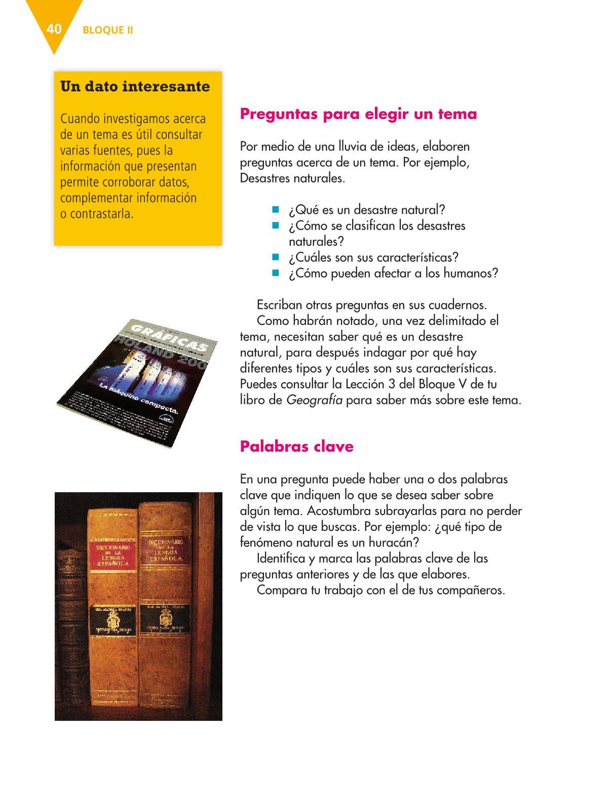 Español Libro para el alumnoquintoPagina 40