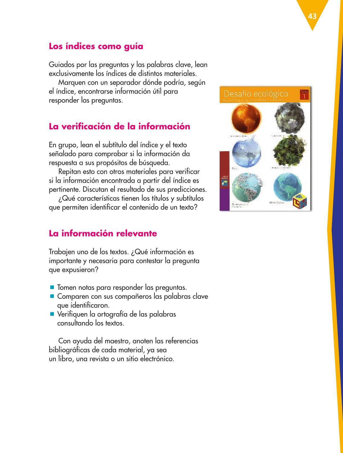Español Libro para el alumnoquintoPagina 43
