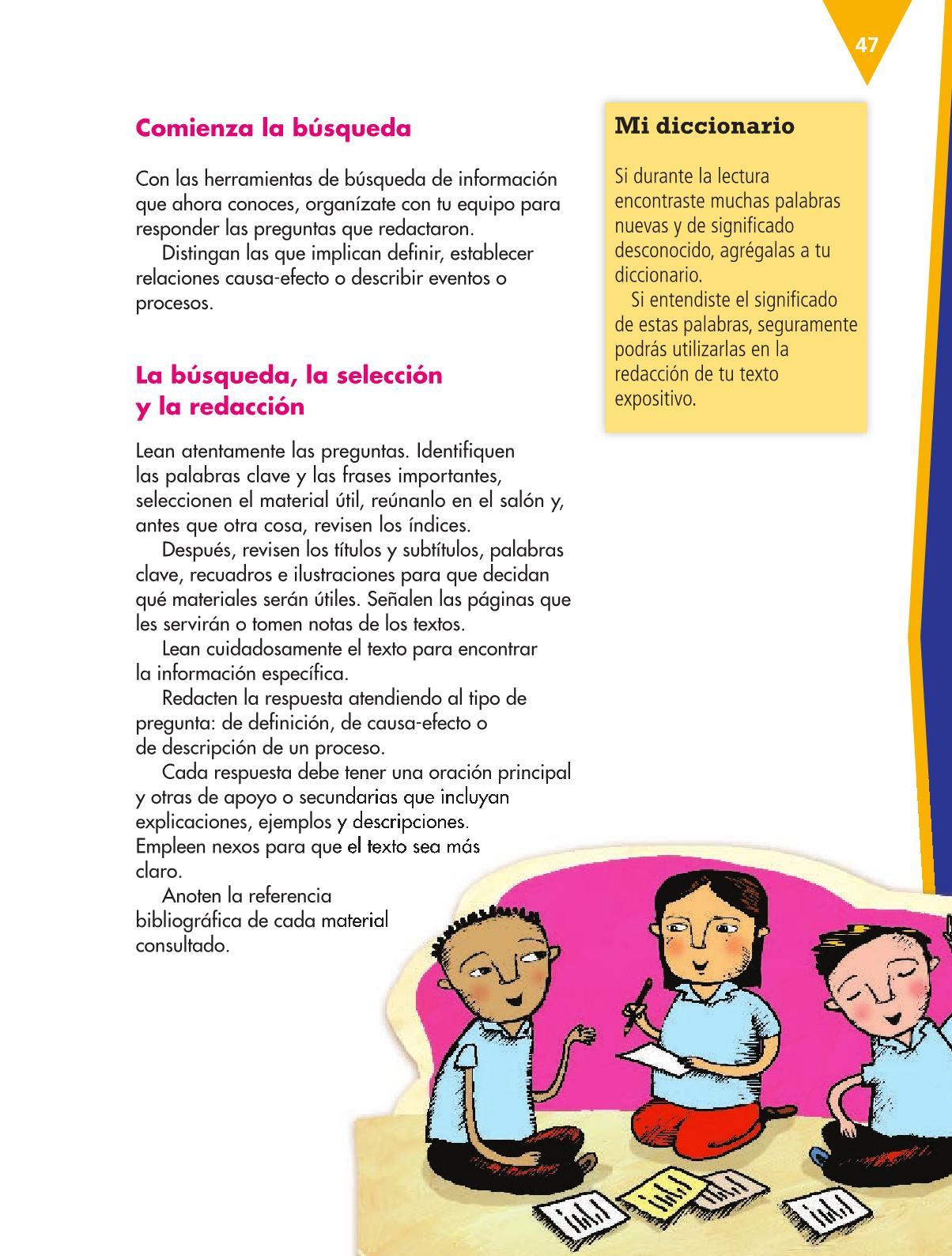 Español Libro para el alumnoquintoPagina 47