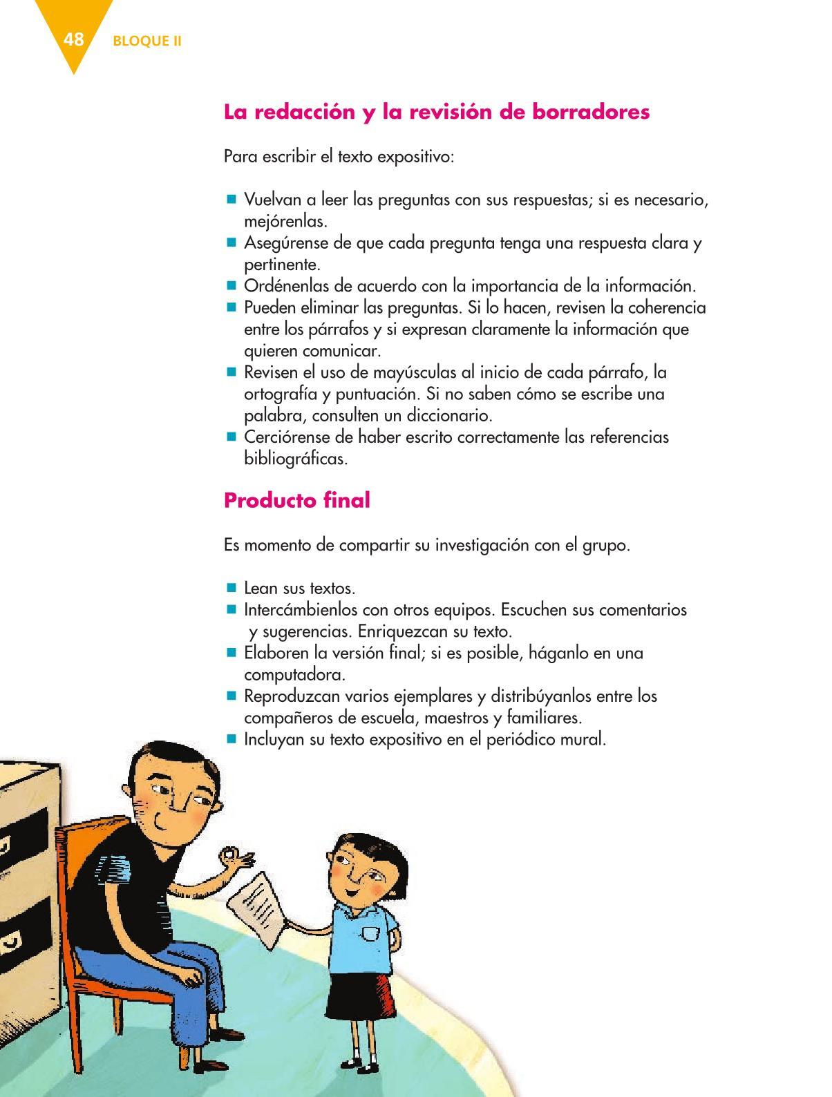 Español Libro para el alumnoquintoPagina 48