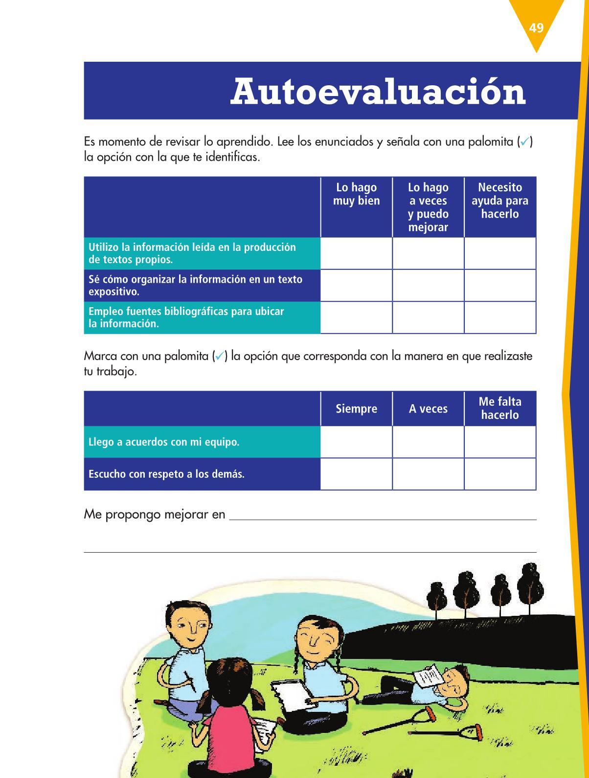 Español Libro para el alumnoquintoPagina 49
