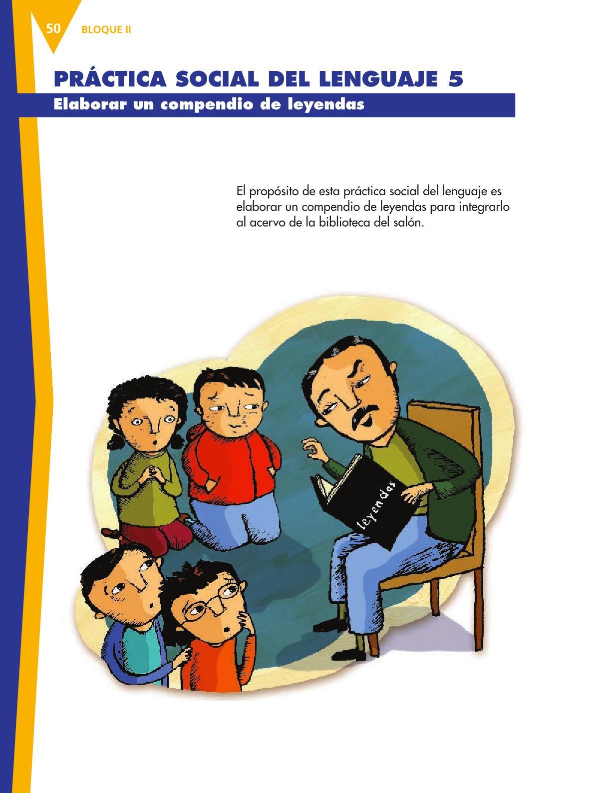 Español Libro para el alumnoquintoPagina 50
