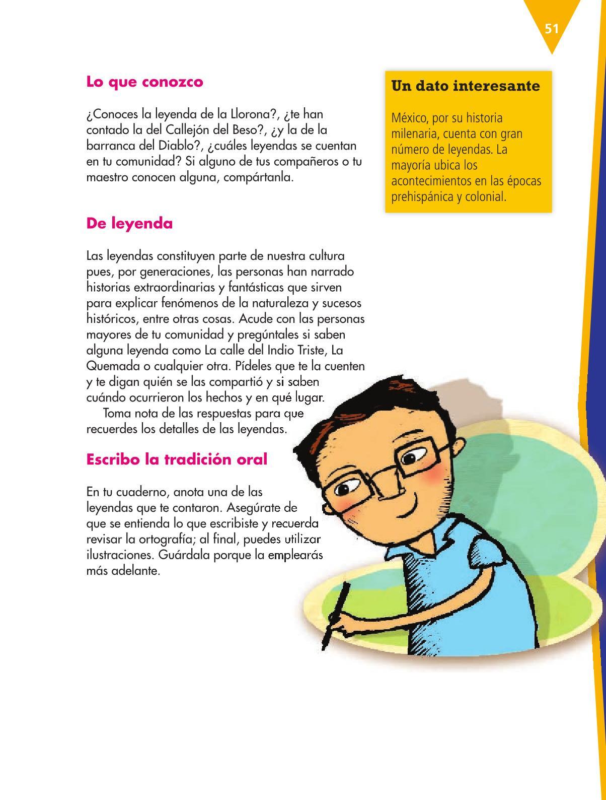 Español Libro para el alumnoquintoPagina 51
