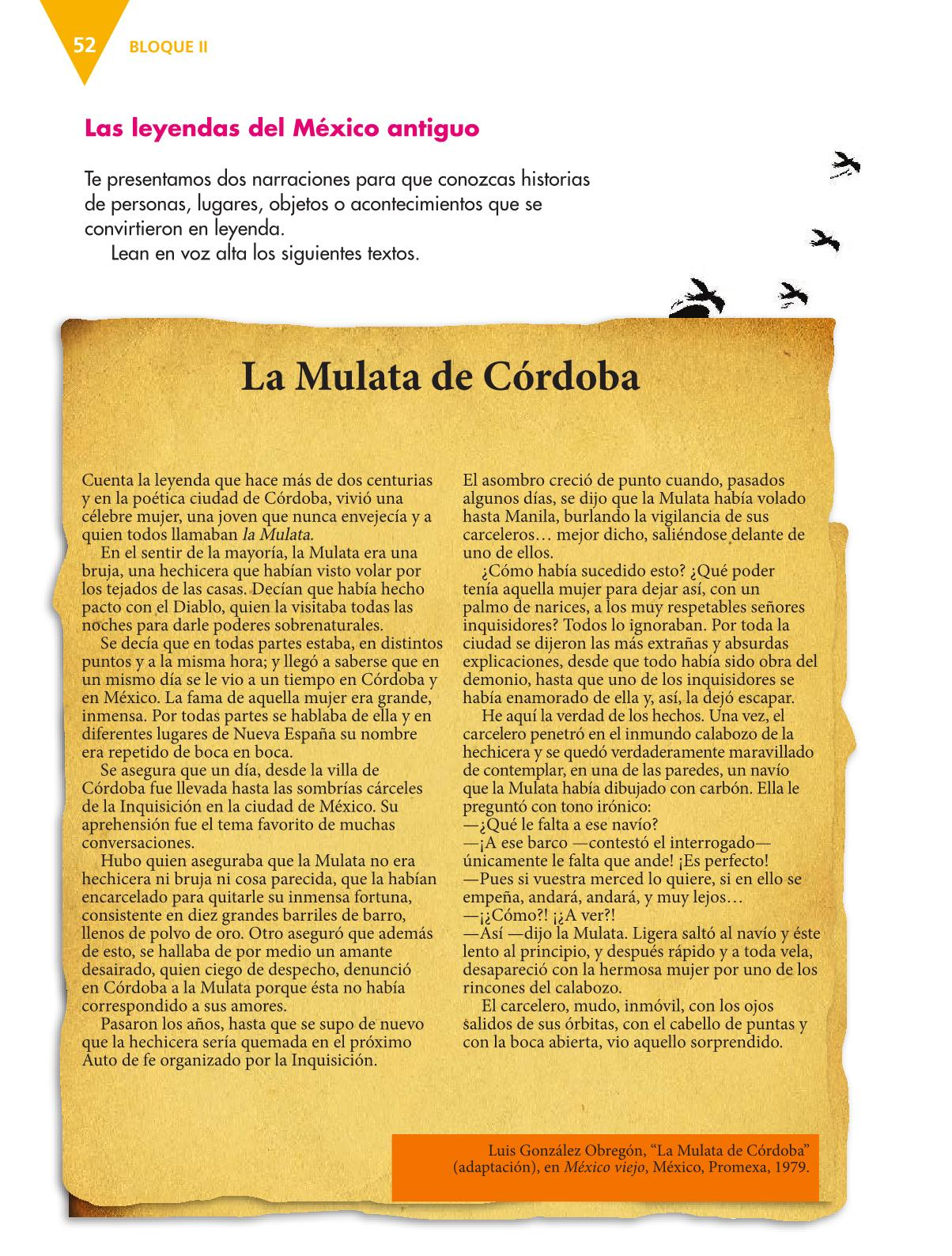 Español Libro para el alumnoquintoPagina 52