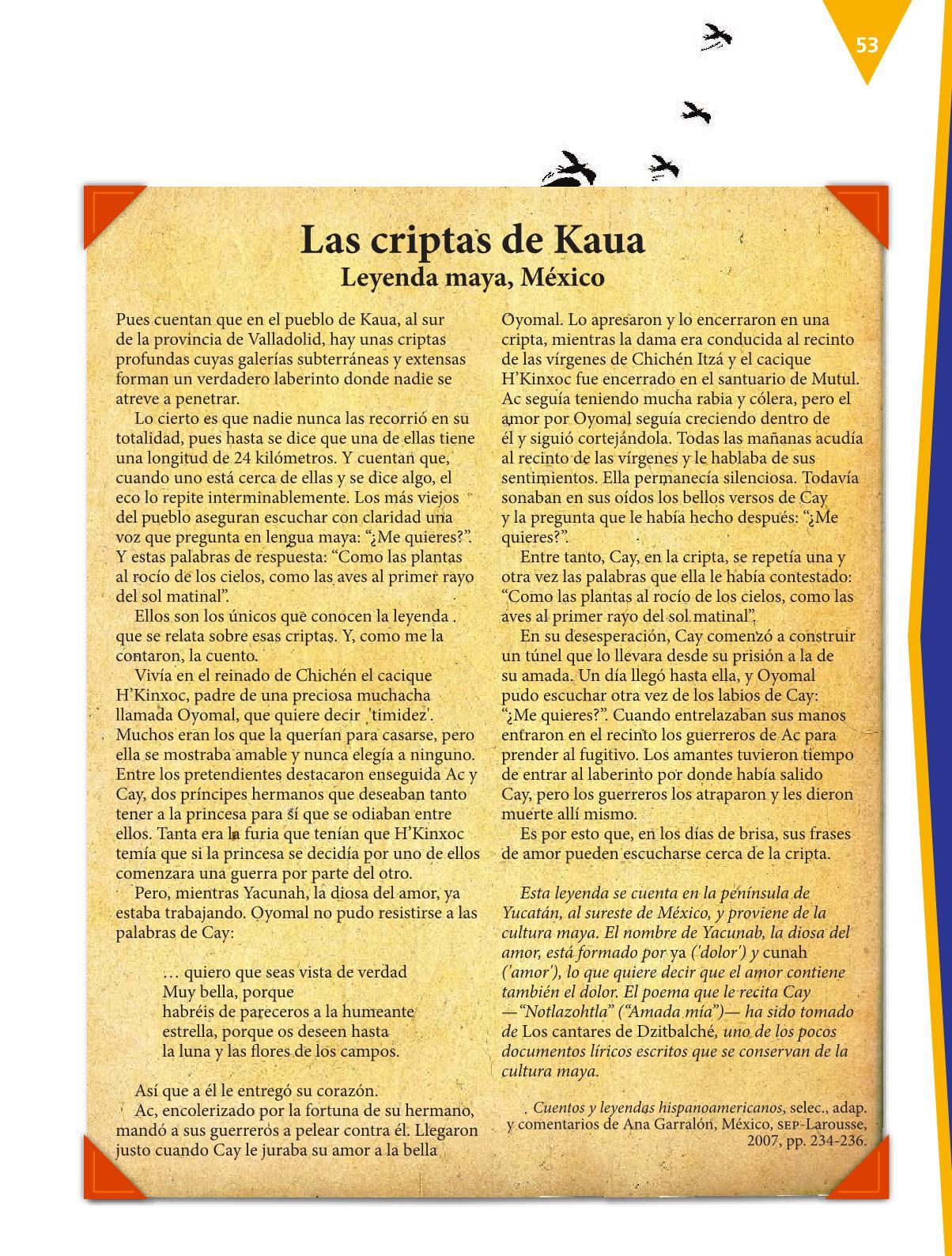 Español Libro para el alumnoquintoPagina 53