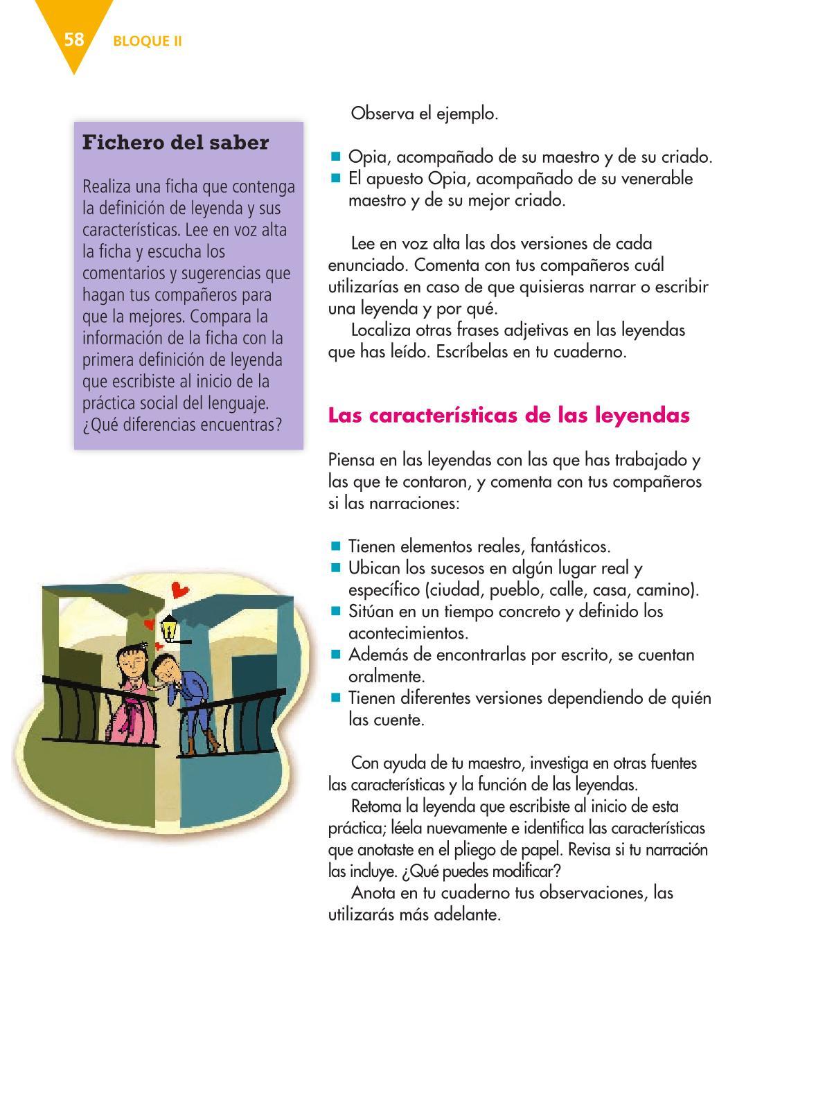 Español Libro para el alumnoquintoPagina 58