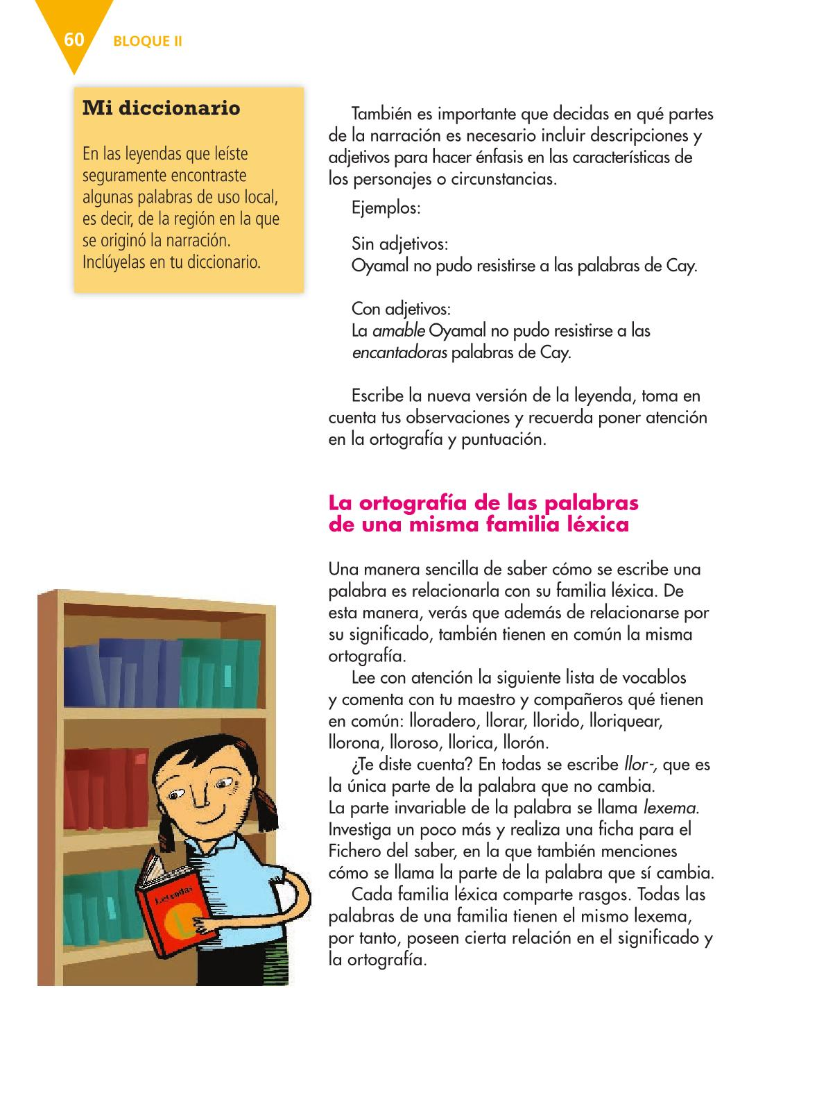 Español Libro para el alumnoquintoPagina 60