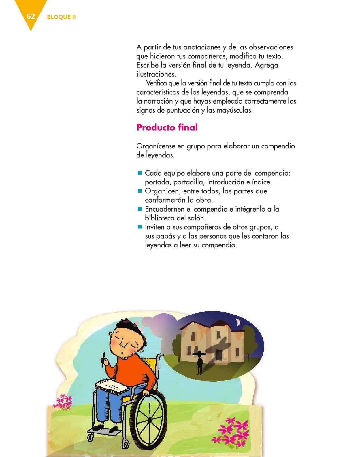 Español Libro para el alumnoquintoPagina 62