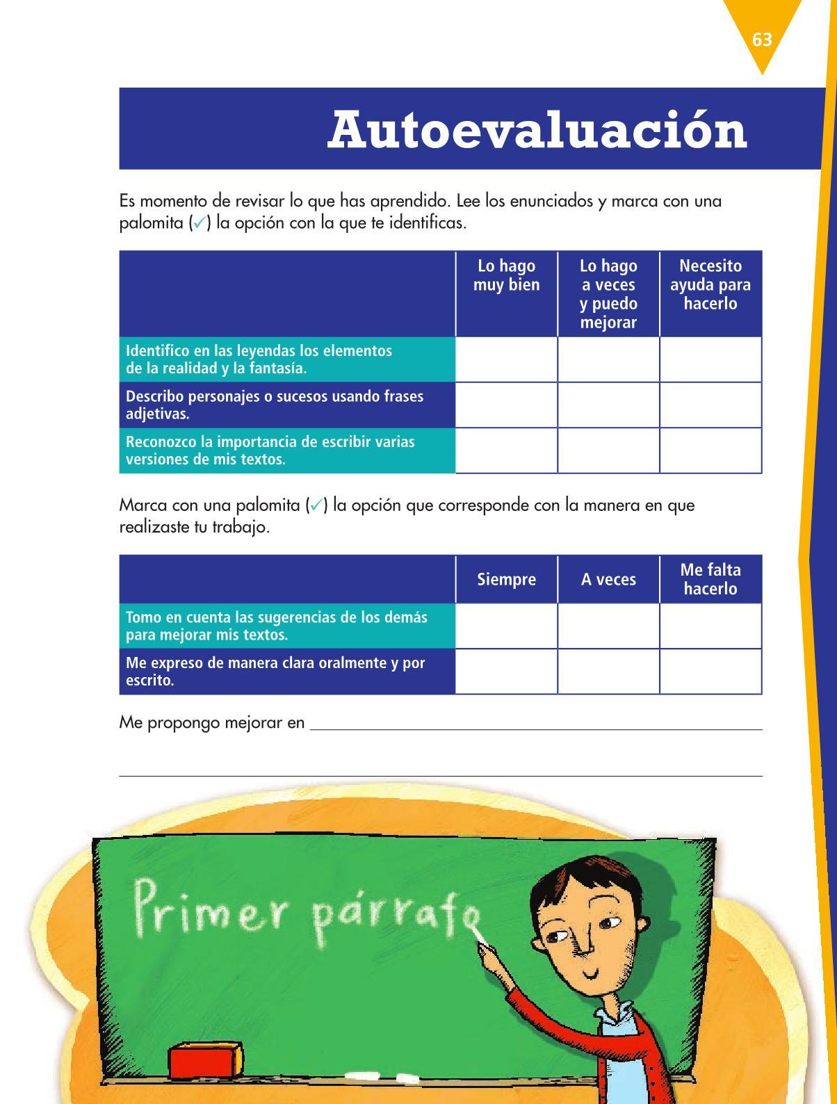 Español Libro para el alumnoquintoPagina 63