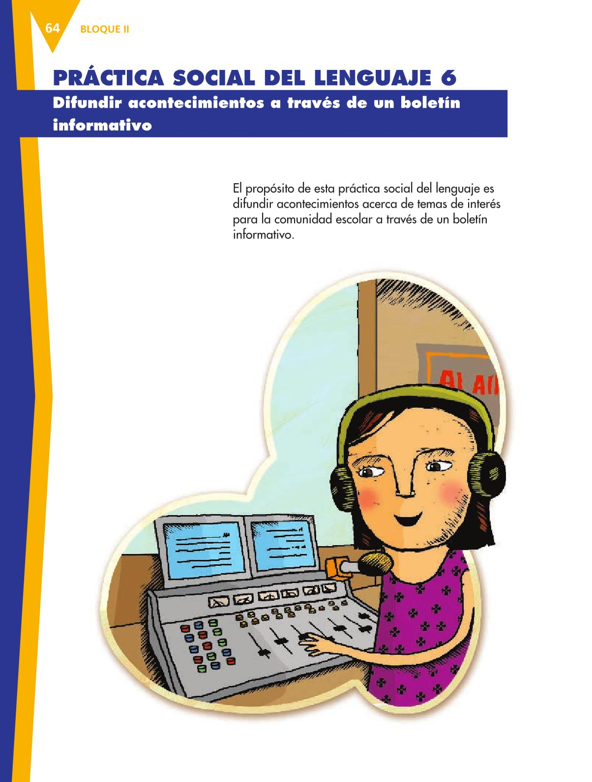 Español Libro para el alumnoquintoPagina 64