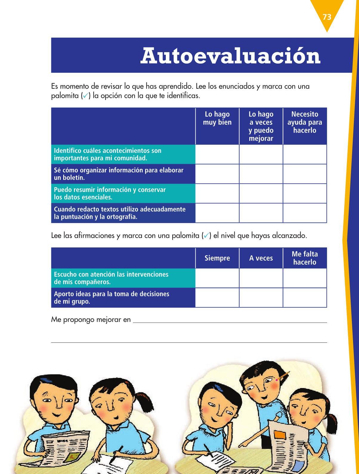 Español Libro para el alumnoquintoPagina 73