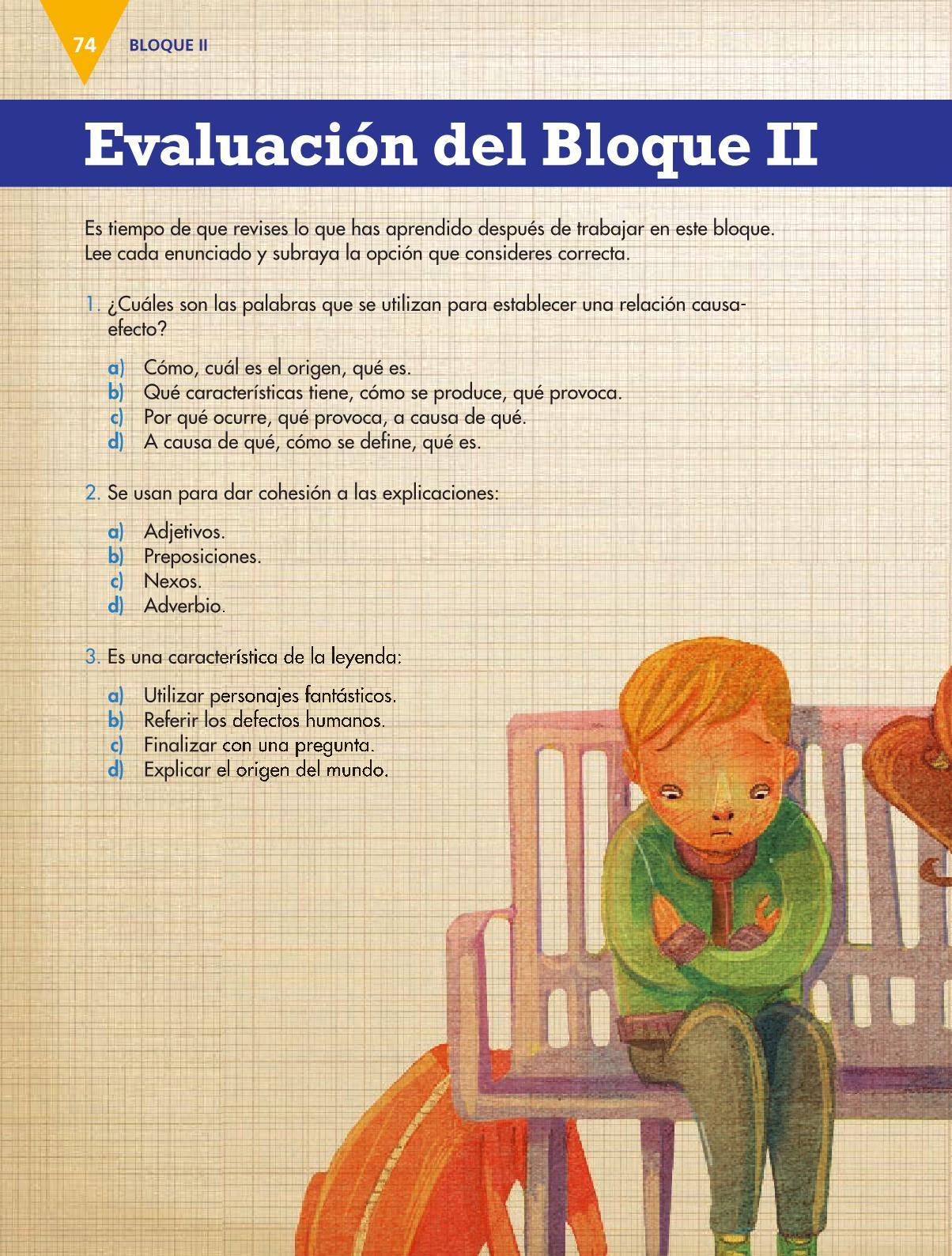 Español Libro para el alumnoquintoPagina 74
