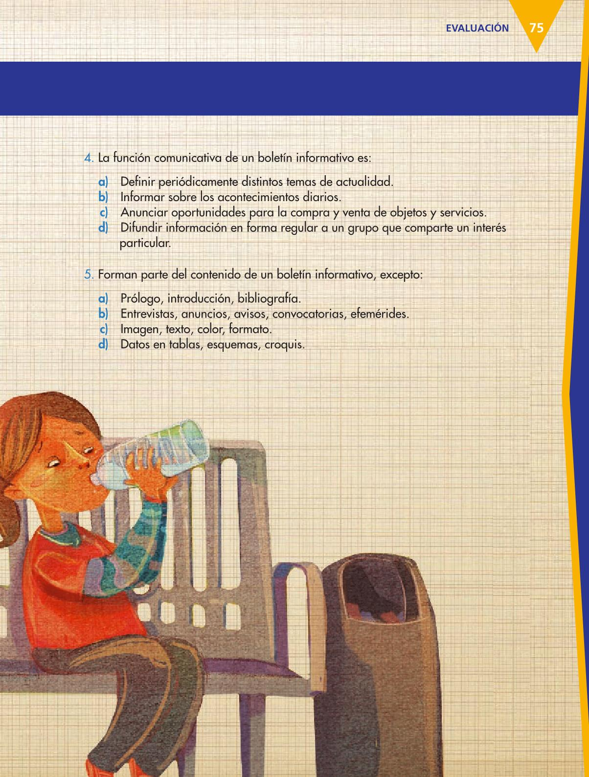 Español Libro para el alumnoquintoPagina 75