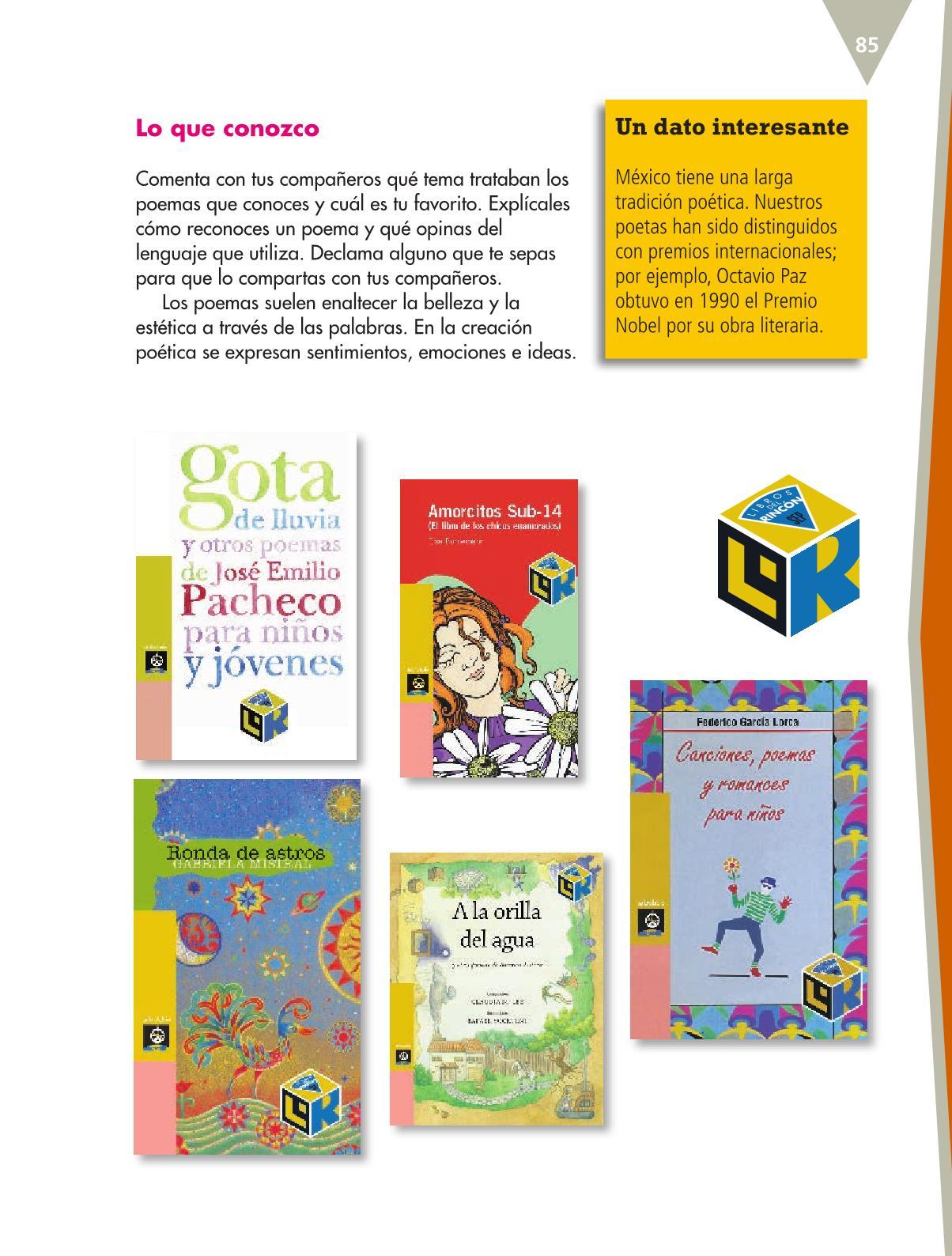 Español Libro para el alumnoquintoPagina 85