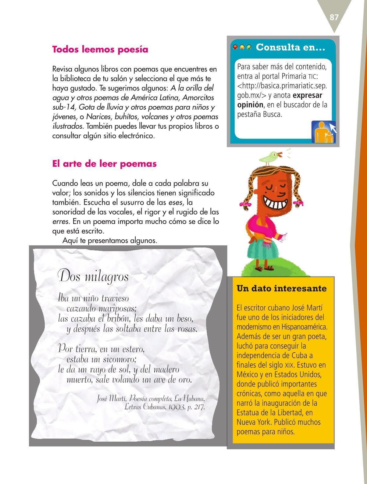 Español Libro para el alumnoquintoPagina 87
