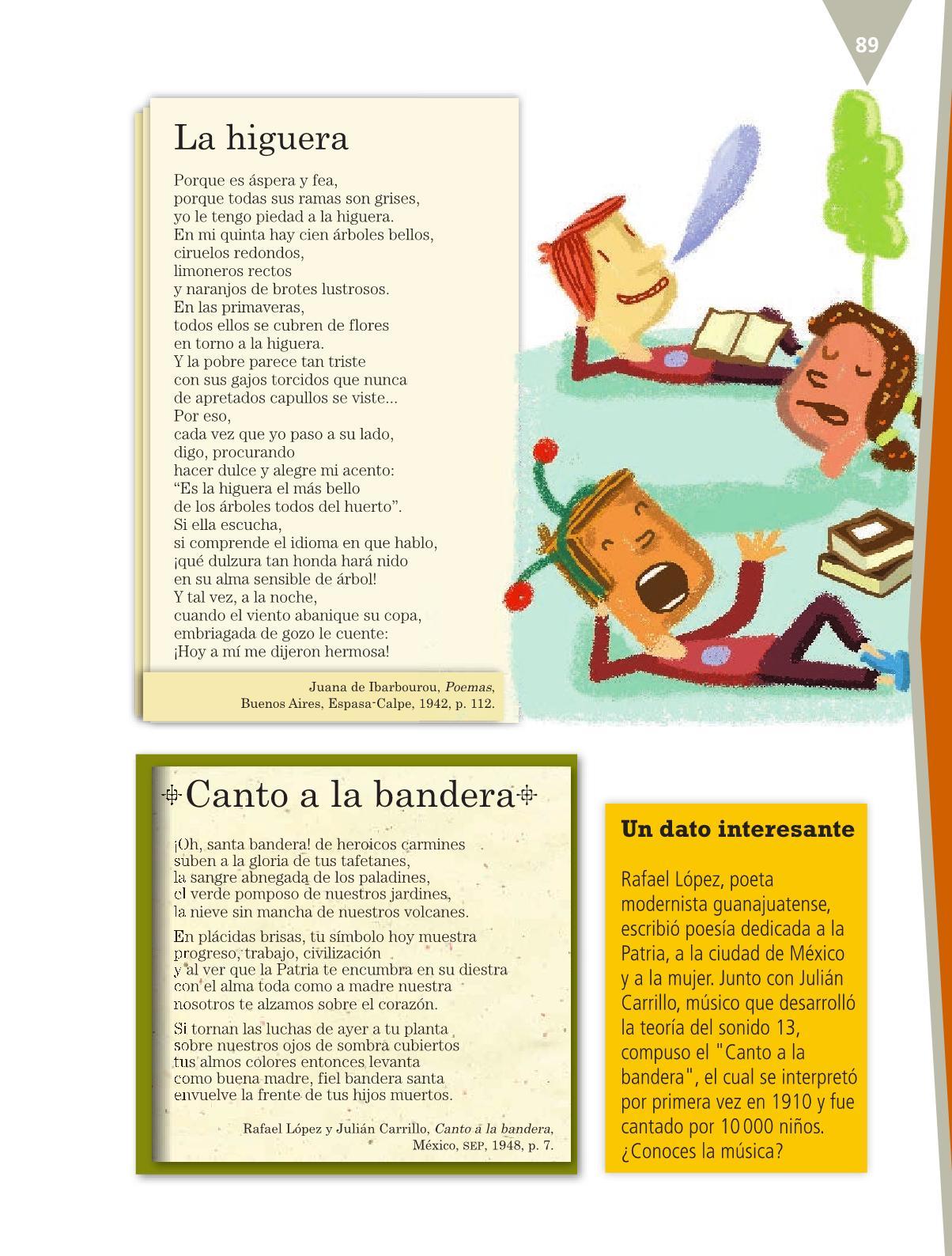 Español Libro para el alumnoquintoPagina 89