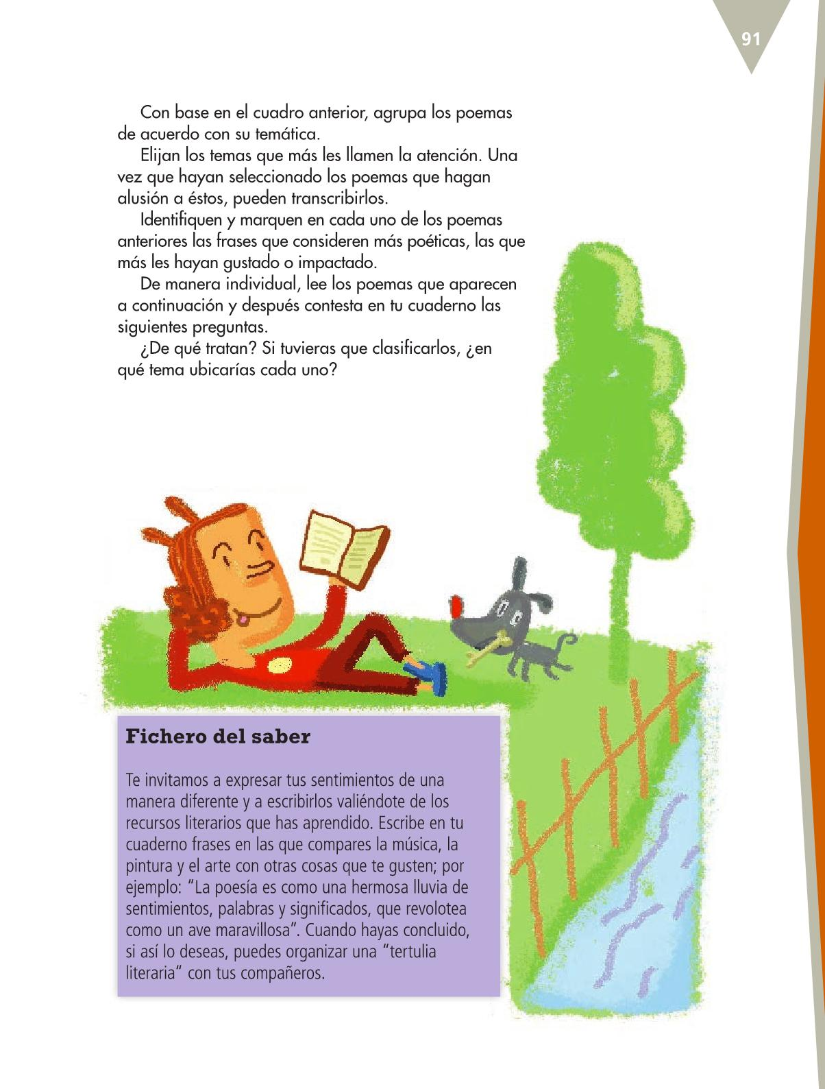 Español Libro para el alumnoquintoPagina 91