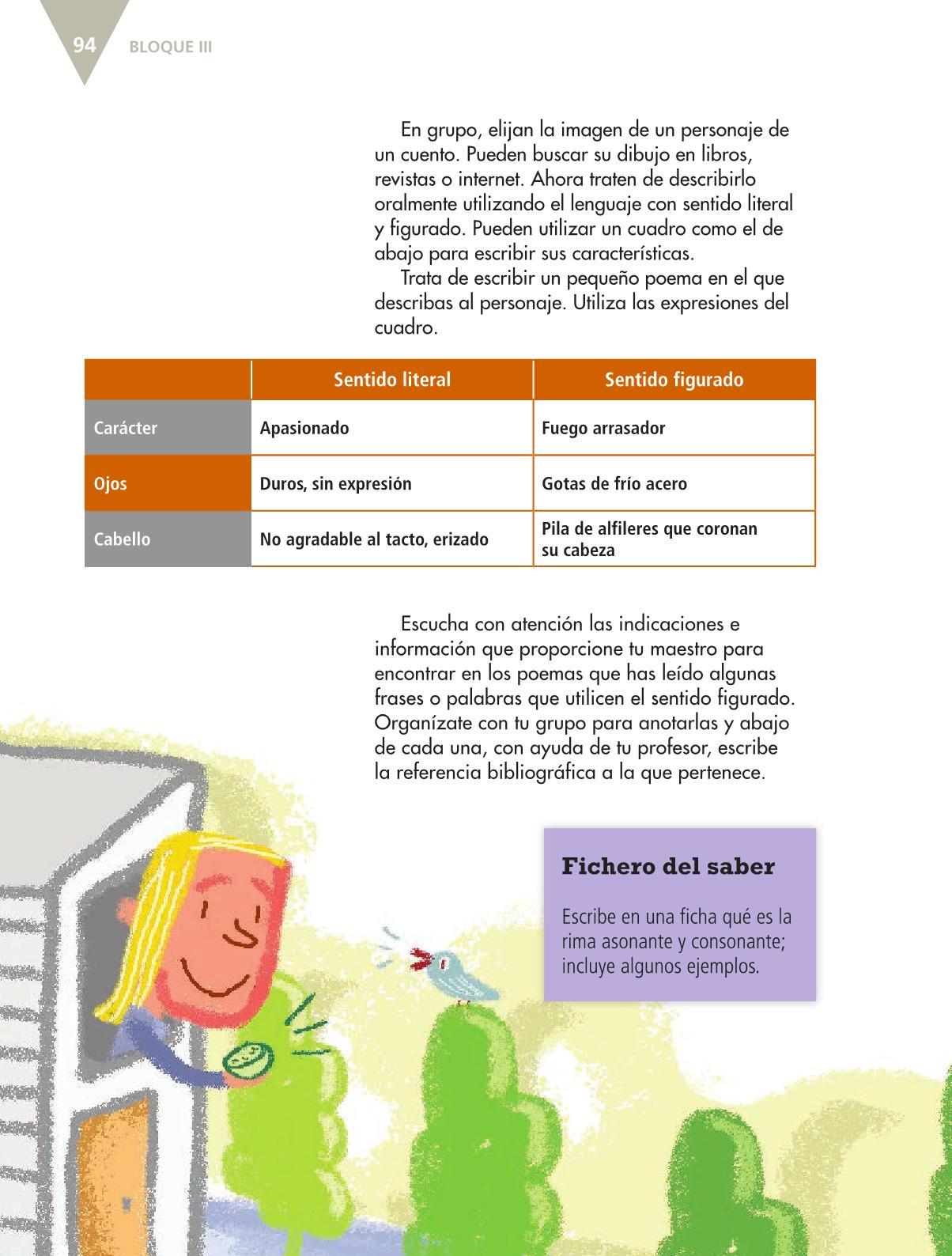 Español Libro para el alumnoquintoPagina 94
