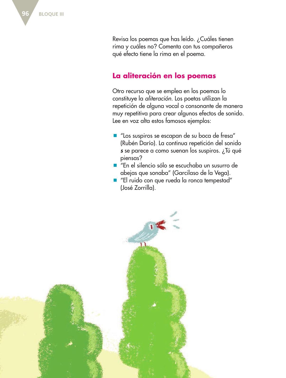 Español Libro para el alumnoquintoPagina 96