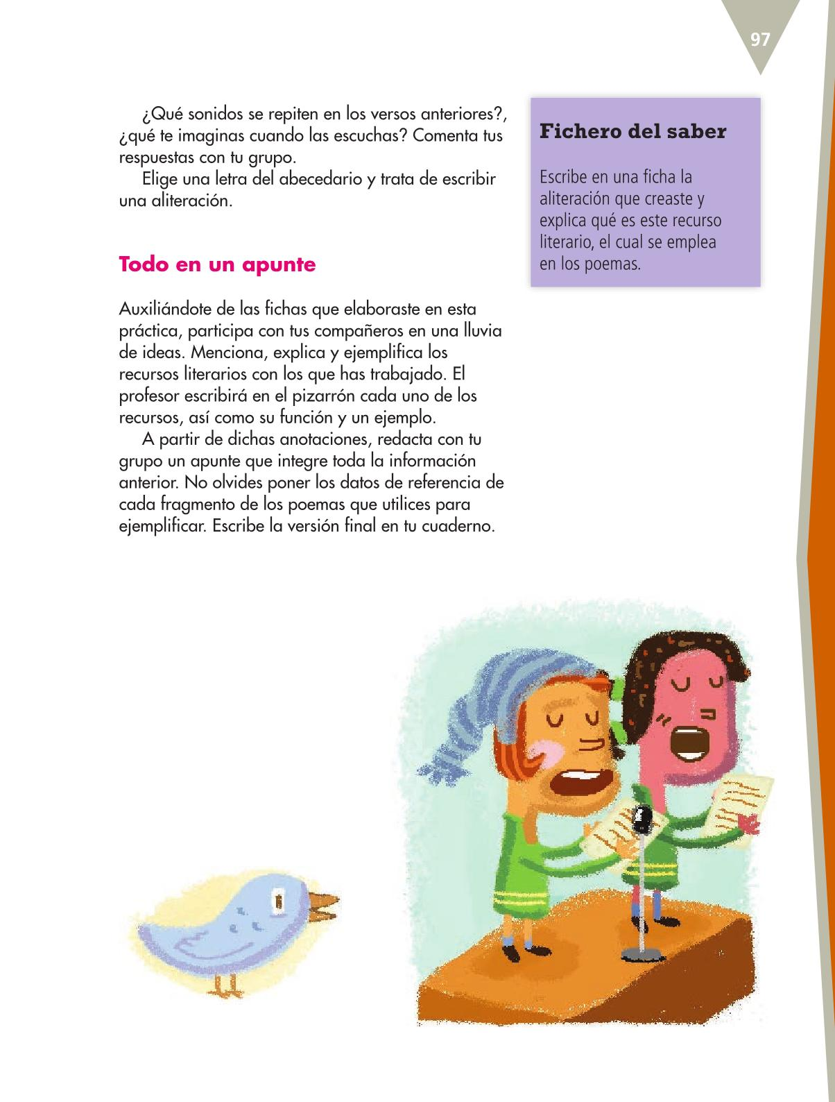 Español Libro para el alumnoquintoPagina 97