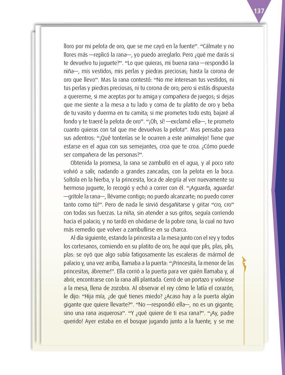 Español Cuarto grado 2017-2018 – Página 137 – Libros de