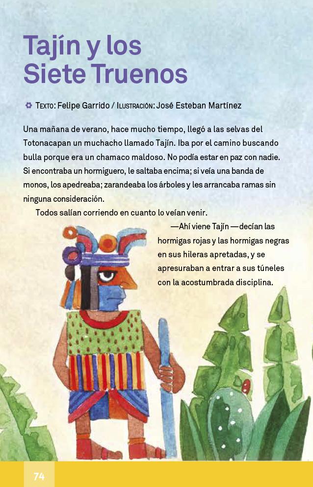 Español libro de lectura Cuarto grado 2017-2018 – Página