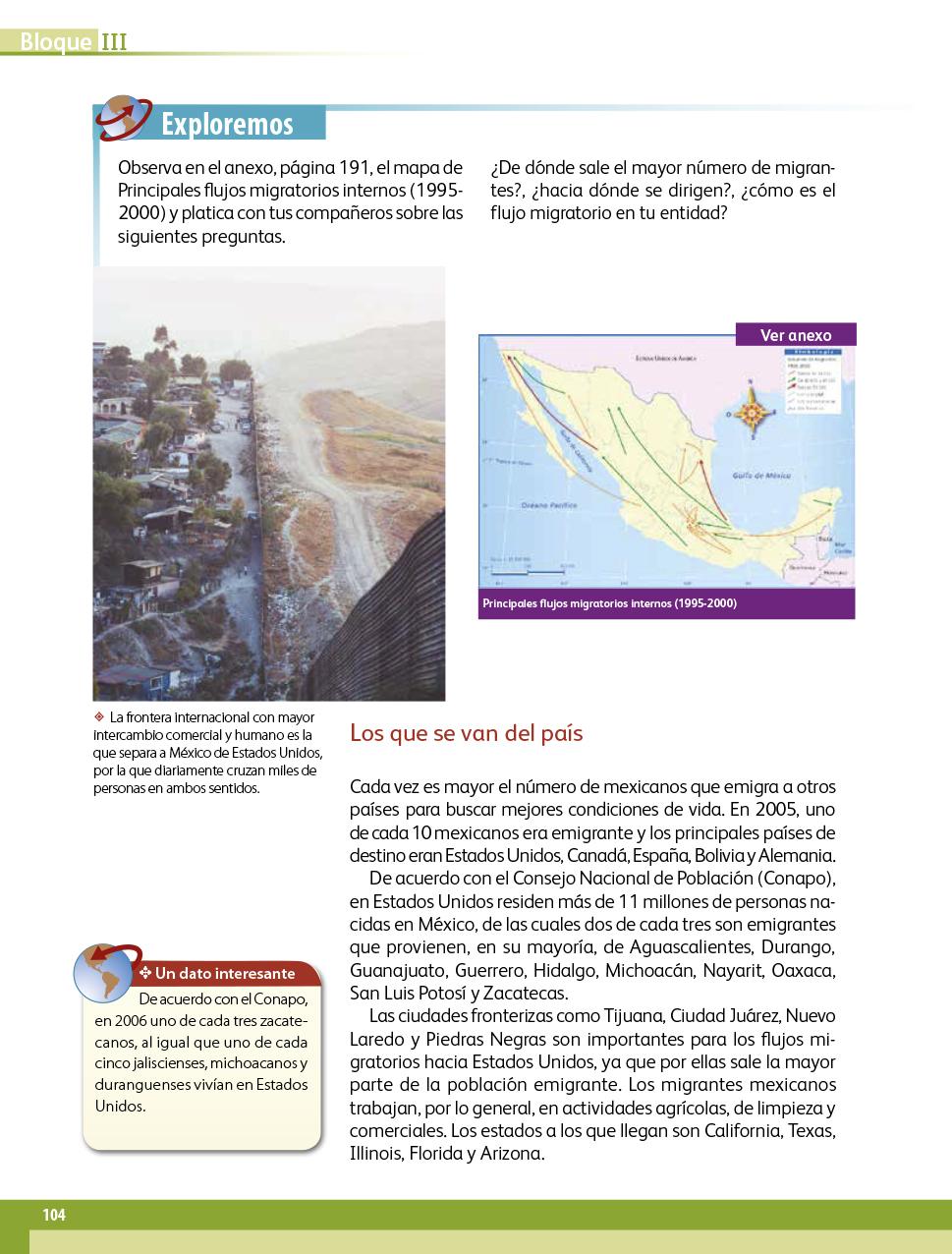 Geograf 237 A Cuarto Grado 2017 2018 P 225 Gina 104 De 202 Libros De Texto Online