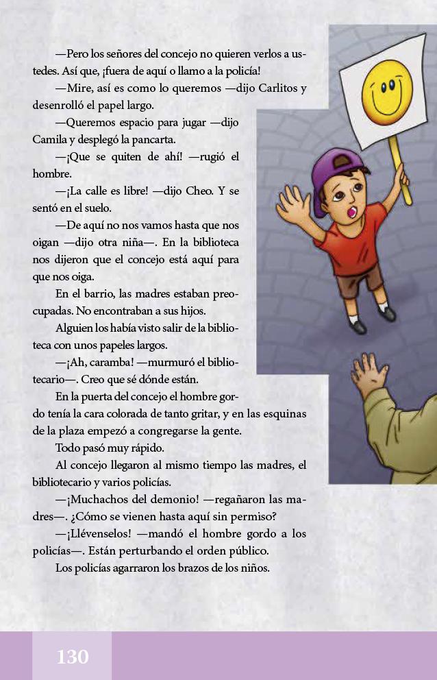 Español libro de lectura Quinto grado 2017-2018 – Página