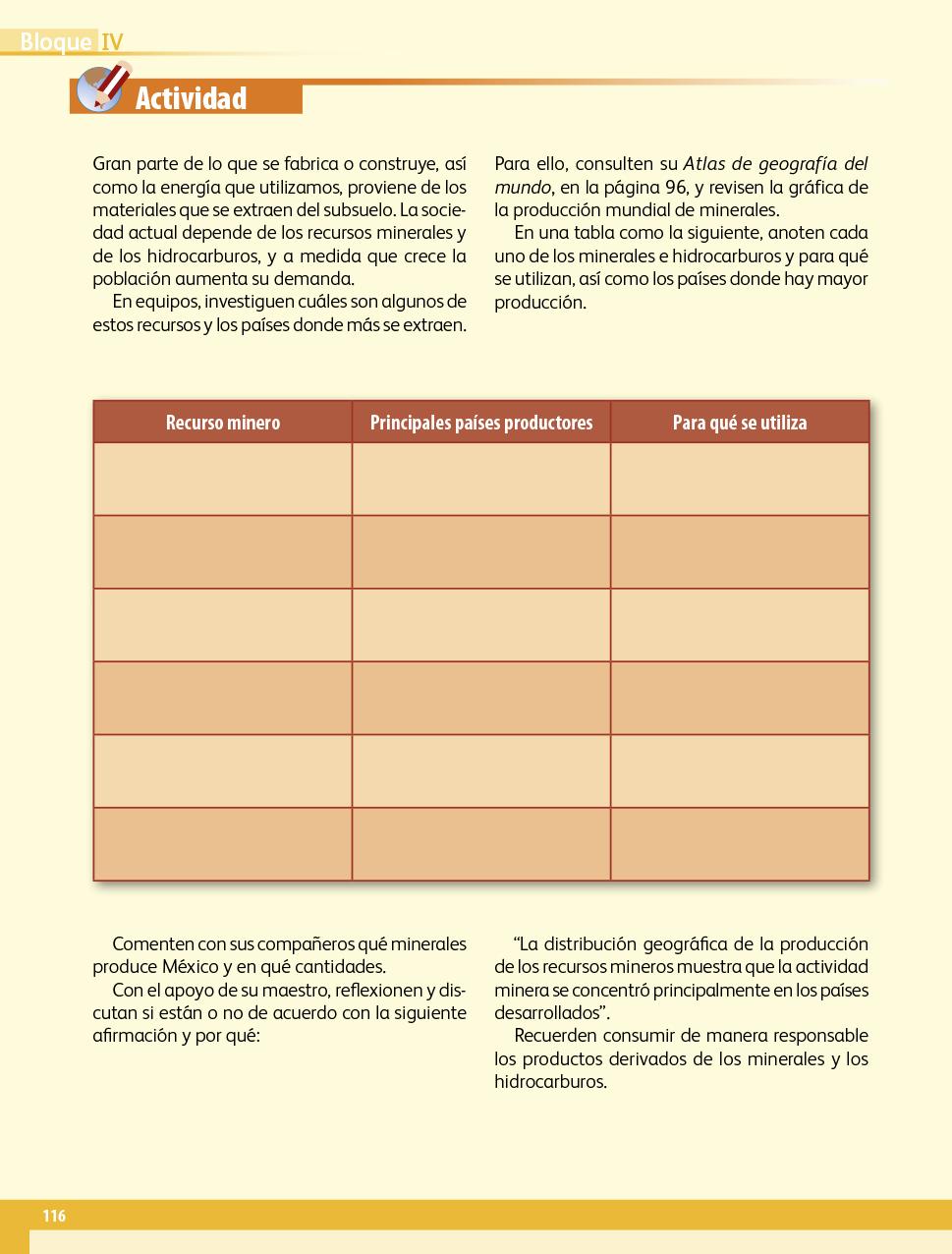 Geografía quinto grado 2017-2018 - Página 116 de 210 - Libros de Texto Online