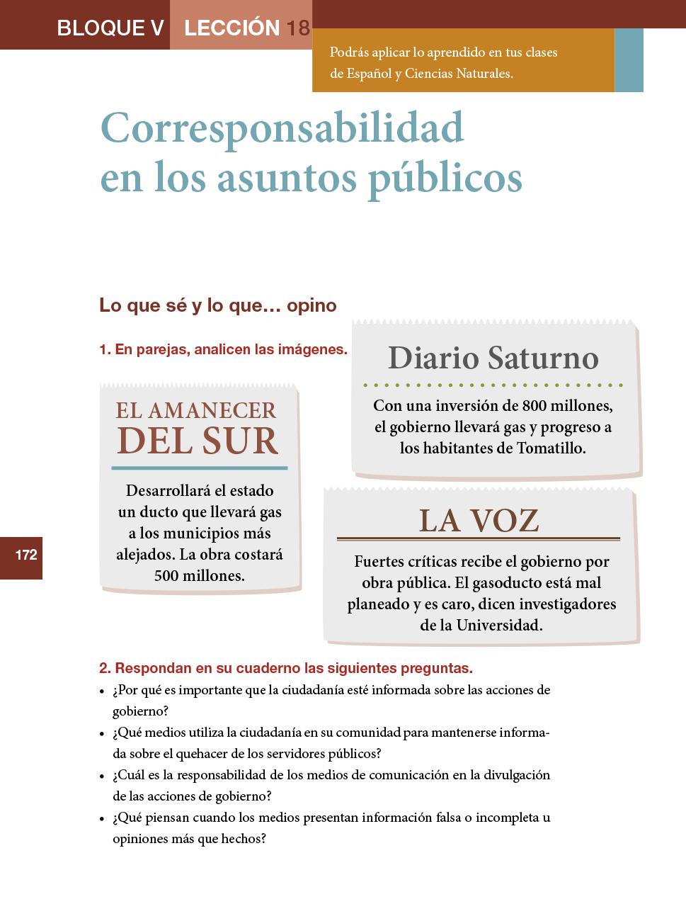 Formacion Civica Y Etica Sexto Grado 2017 2018 Pagina 172 De 210 Libros De Texto Online