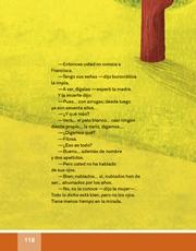 Libro Español libro de lectura tercero grado Página 118