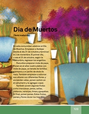 Libro Español libro de lectura tercero grado Página 123