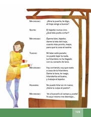 Libro Español libro de lectura tercero grado Página 129