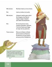 Libro Español libro de lectura tercero grado Página 132