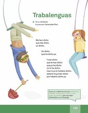 Libro Español libro de lectura tercero grado Página 133